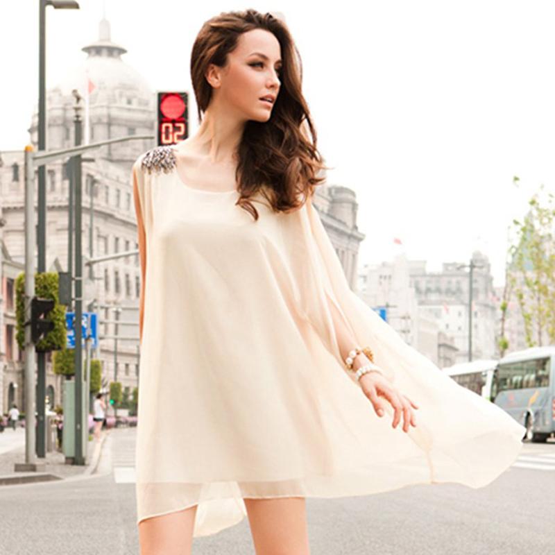 Фото белое шифоновое платье