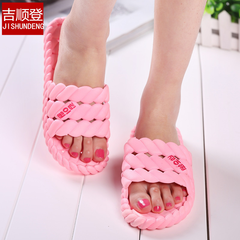 2015 New Bathroom Slippers Slip-Resistant Interior Lovers Summer Plastic Wood Floor Summer Slippers Womens Sandals Free Shipping<br><br>Aliexpress