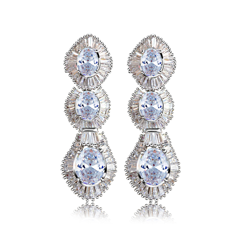 New arrival Long Style Bridal earrings 2015 Preview popular luxury accessories Hand Made Setting Free Allergy No Shipping()