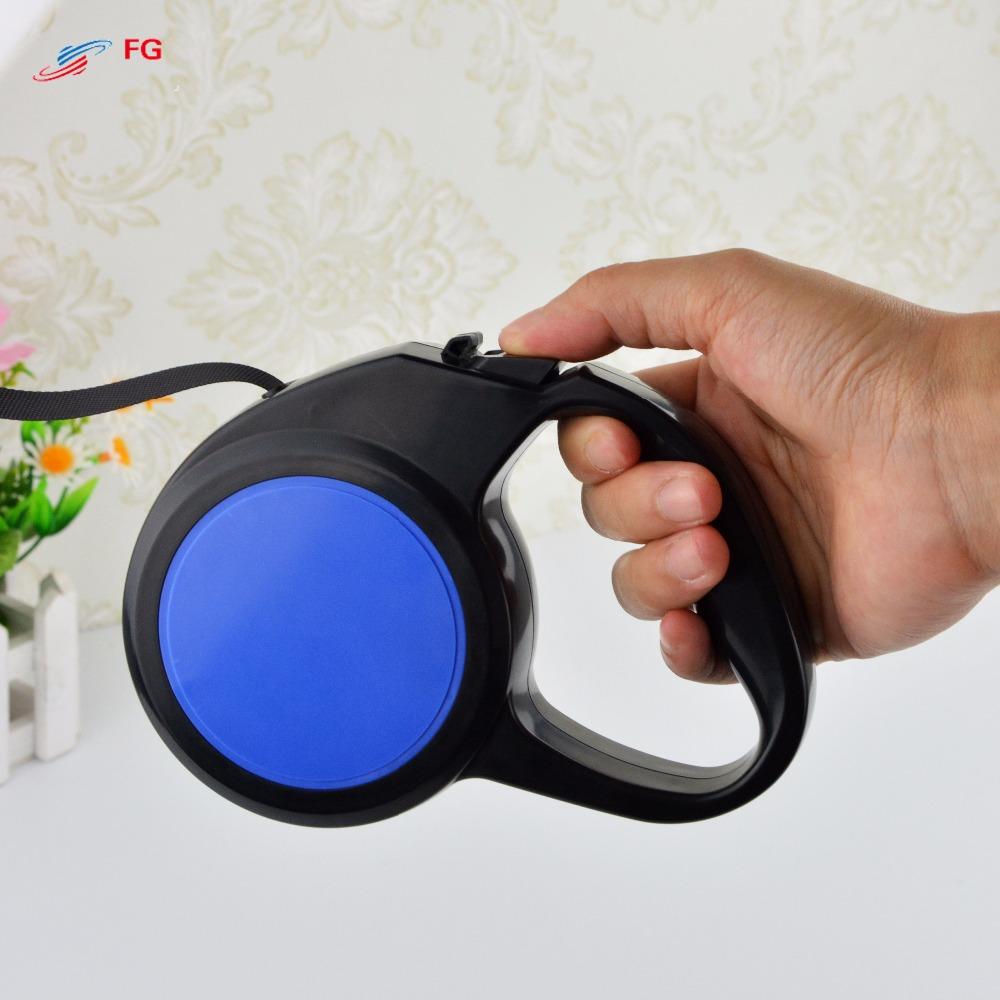 100% High Quality Blue Color Pet Retractable Leash Automatic Extending 3M 60Kg Pull Pet Dog Leash Lead(China (Mainland))
