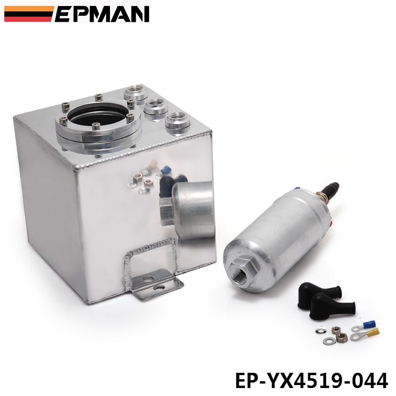 EPMAN 044 Fuel Pump 2L Billet High Flow Fuel Filter Swirl Surge Pot Tank Assembly In Silver EP-YX4519-044(China (Mainland))