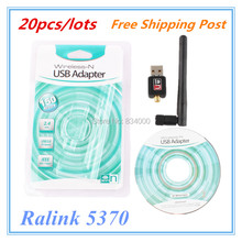 Buy Free post 20pcs/lots 150Mbps Mini Wireless USB Adapter USB WiFi Dongle/ Ralink RT5370 Wireless USB Adapter WiFi Dongle for $58.00 in AliExpress store