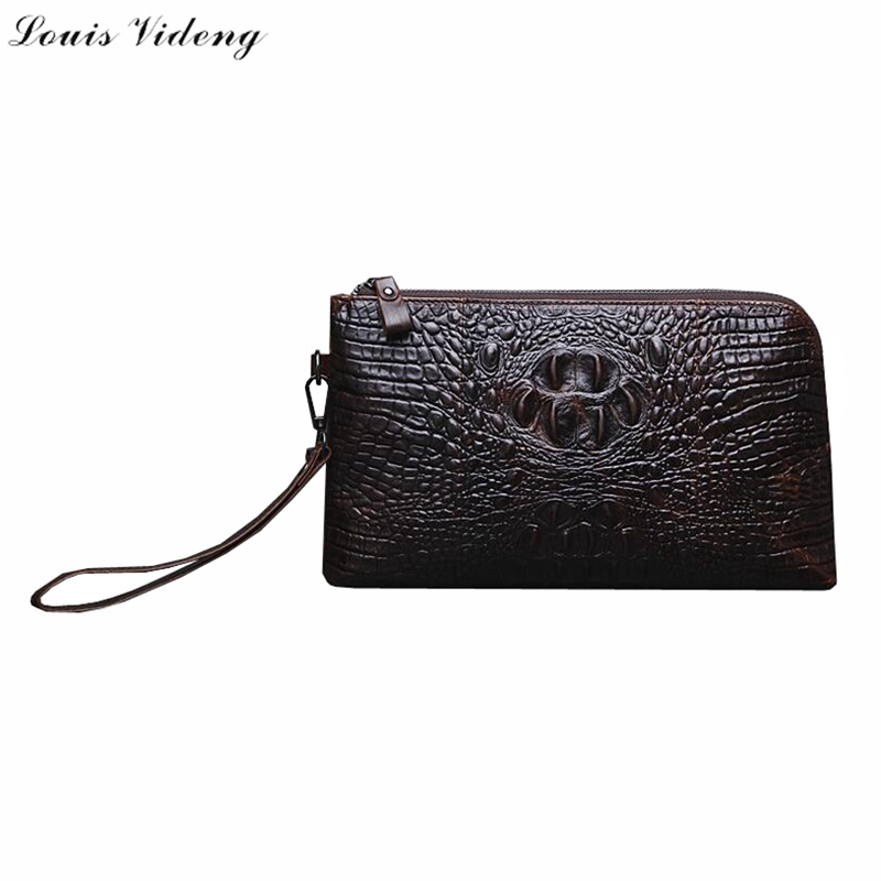 Luxury Newest 2016 Alligator Cowhid Leather Mens Clutches With Wristlet,Multi-function Male Handbags,Big Size Organizer Wallet<br><br>Aliexpress