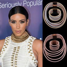 Buy Dvacaman Fashion Kim Kardashian Necklace Collar Necklace & Pendant Choker Statement Necklace Maxi Jewelry Choker Wholesale 7227 for $5.34 in AliExpress store