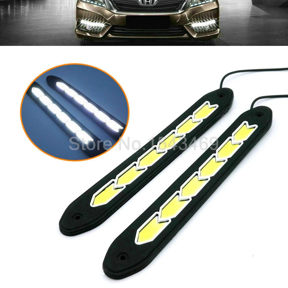 2* 26cm 12V COB LED DRL Daytime Running Light car lights For Universal Car 100% Waterproof Fog car day running lights(China (Mainland))