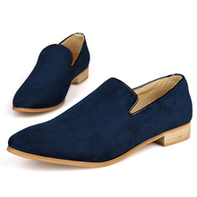 2016 new fashion suede leather loafers moccasin casual men oxfords shoes male fashion pointed toe man shoe