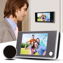 2016 New Arrival 3.5 inch LCD 120 Degree Peephole Viewer Door Magic Eye Doorbell Color IR Camera Free Shipping(China (Mainland))