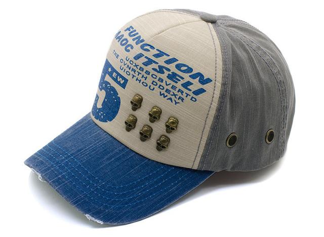 Fashional caps hats with human skeleton ornament baseball caps retro style hat vintage cap popular summer cap wholesale sun hats