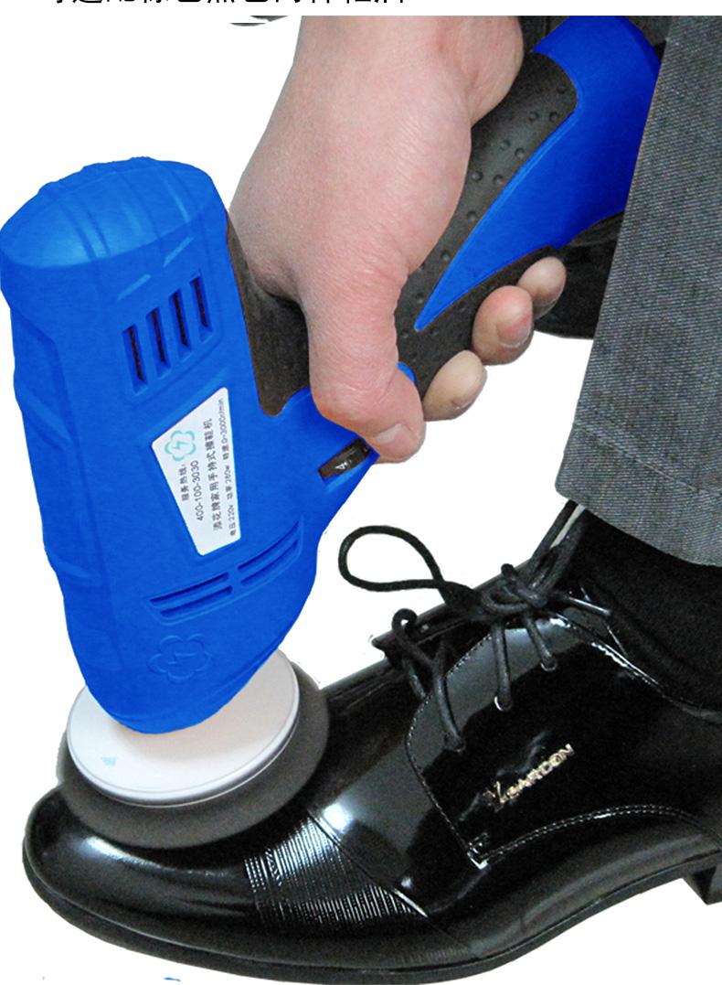 Free shipping Electric Brush Mini Portable Automatic Shoe Polisher(China (Mainland))