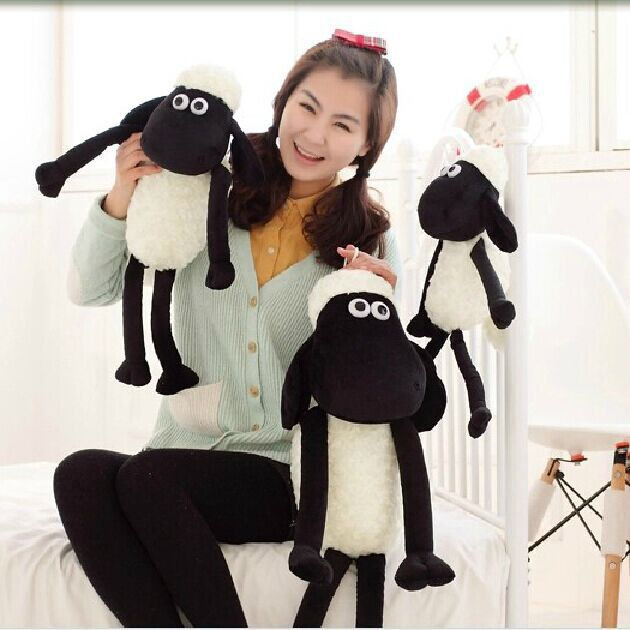 2016 New Arrival Shawn Sheep Plush Animals One Piece 32cm Black White Lovely Kids Toy Children's Gifts Hot Sale Sheep Plush Toys(China (Mainland))