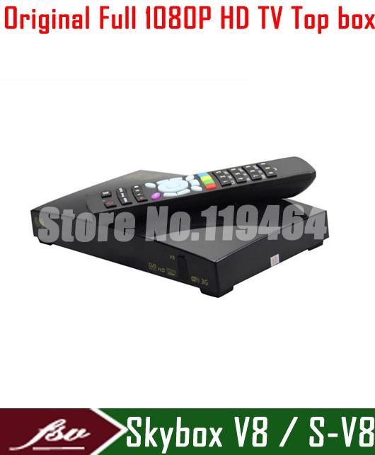 HD full 1080p Top Box Skybox V8 S-V8 DVB-S2 +DVB-T2 satellite receiver support 3G USB youtube IPTV 3G Web TV Cccamd Newcamd(China (Mainland))