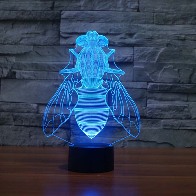 3D night Light Animal Flies 7 Color Changing Night Light Electrical Outlet night light home depot(China (Mainland))