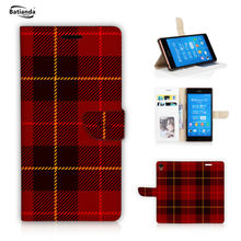 for Sony Z5 Compact /Z5mini Leather Case Stand Flip Cover for Sony Xperia Z5 Premium / Z5 / Z3 Wallet Bag Tartan / Check Style