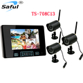 Hot sale 7 inch TFT LCD Monitor with integrated video recorder Wireless Video Surveillance System Kit