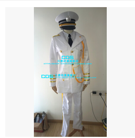 China Cosplay Costume - APH Axis Powers Hetalia China Cosplay white uniform Unisex Axis Powers Hetalia Cosplay Costume 6/lot