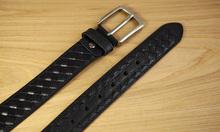 LAN free shipping men's genuine leather belt knitting belt cow leather leisure business belt men's fashion belt jeans's belt