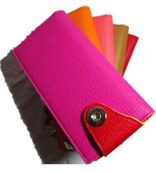 ladies' PU wallet ,  5 colors Free shipping wallet  free shipping