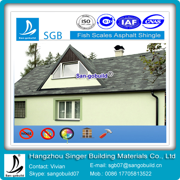 Iso 9001 Approved Fish Scale Asphalt Shingles China Roof