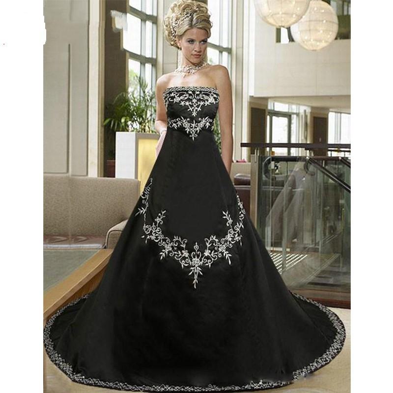 Gothic Plus Size Wedding Dresses Simple Plus Size Gothic Wedding