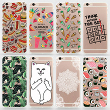 TPU Soft Cases For iPhone 6s 6 5s 5 5c 4s 4 SE 6 Plus Colorul Printing Drawing Transparent Clear Soft Silicon Phone Cover