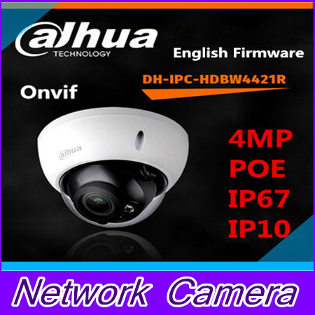 Фотография Dahua IPC-HDBW4421R IR IP Camera 4MP Full HD Network IR security cctv DH-IPC-HDBW4421R Dome Camera Support POE