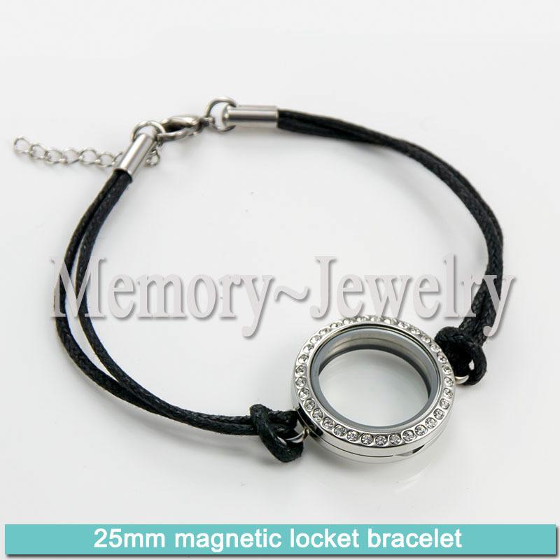 316 stainless steel 25mm locket magnetic bracelet<br><br>Aliexpress