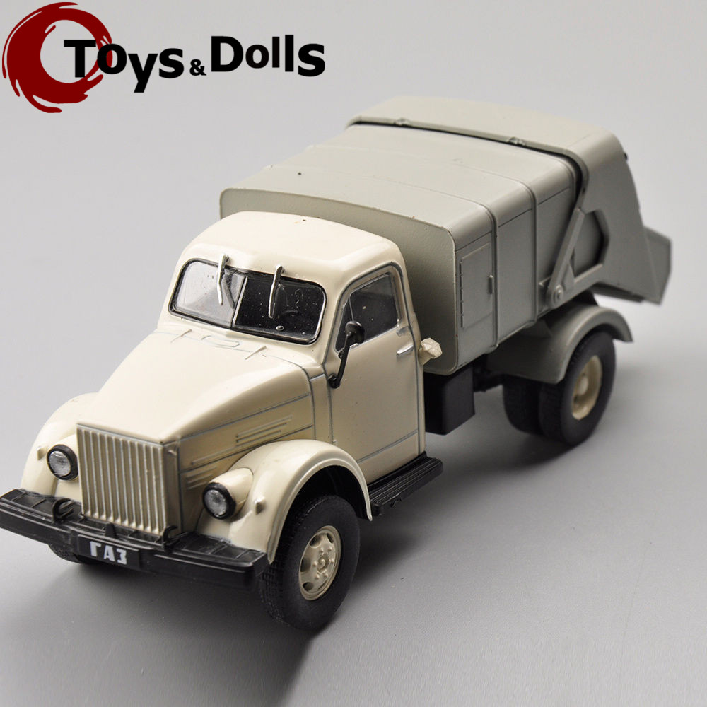 1:43 Scale Diecast Alloy Russia Rubbish Truck Car Vehicales Cars Model Kids Toys brinquedos Brithday Gifts Collections E(China (Mainland))