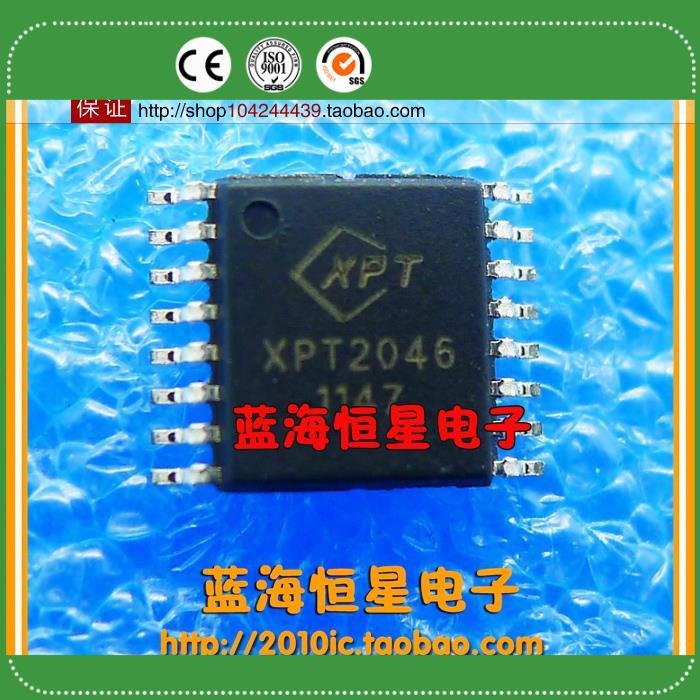 Free Delivery.XPT2046 TSSOP16 4 wire system touch screen control IC(China (Mainland))