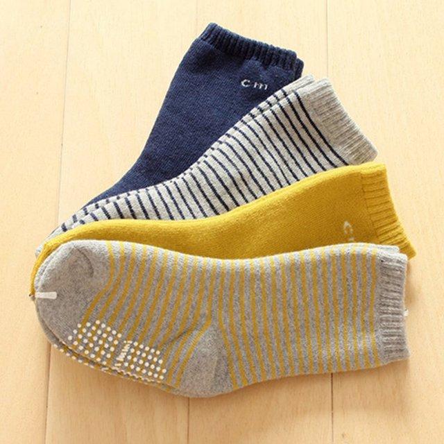 Детские теплые хлопковые носки с нескользкой подошвой. На возраст 1-4 года.