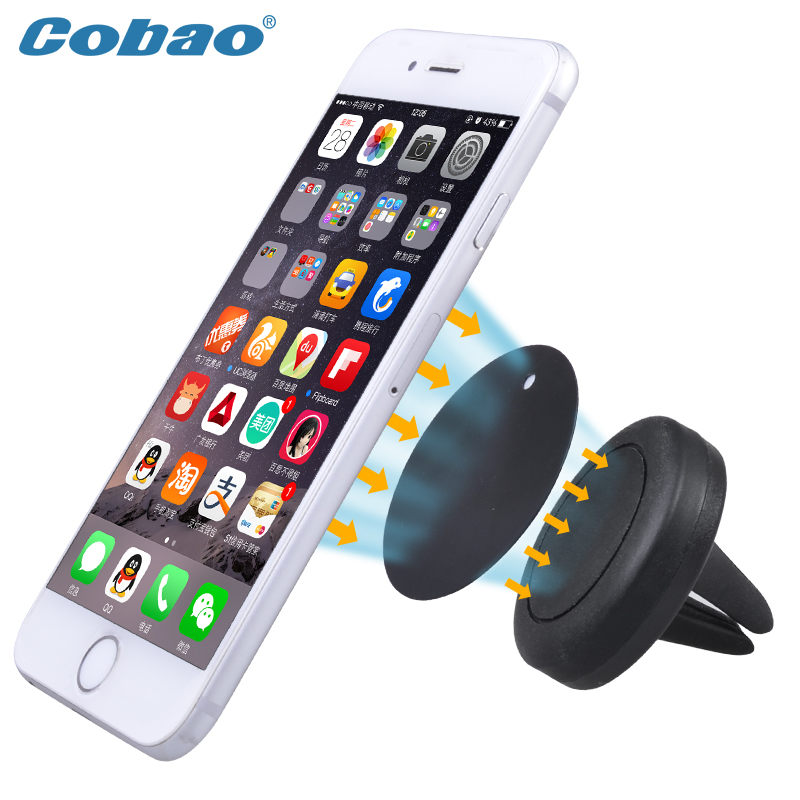 Cobao Auto Car Holder Mini Air Vent Outlet Mount Magnet Magnetic Phone Mobile Holder Universal For iphone Samsung Car Holder(China (Mainland))