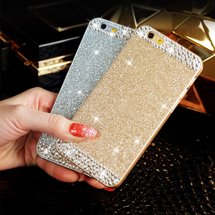 For iPhone 5 case Glitter powder rhinestone luxury diamond clear crystal back cover Sparkle phone case For iPhone 5s(China (Mainland))