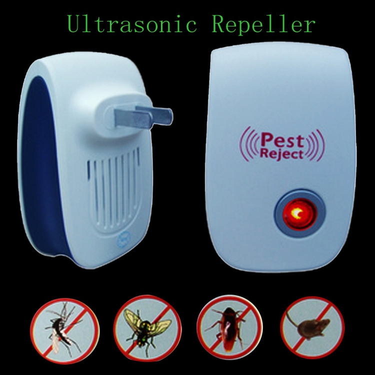 Electronic Ultrasonic Pest Repeller 22-55KHz MouseType Cockroach Mosquito Control Reject US Plug Brand New Free Shipping(China (Mainland))
