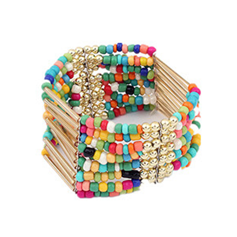 2015 New Hot Fashion Women Bracelet Long Multi layer pearls beads Bracelet Friendship pulseras Party Jewelry Accessories B819(China (Mainland))