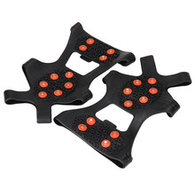 4 Size Anti Slip Snow Ice Climbing Spikes Grips Crampon Cleats 5-Stud Shoes Cover Overshoes Protect Hiking Accessories Dec29ZYP(China (Mainland))
