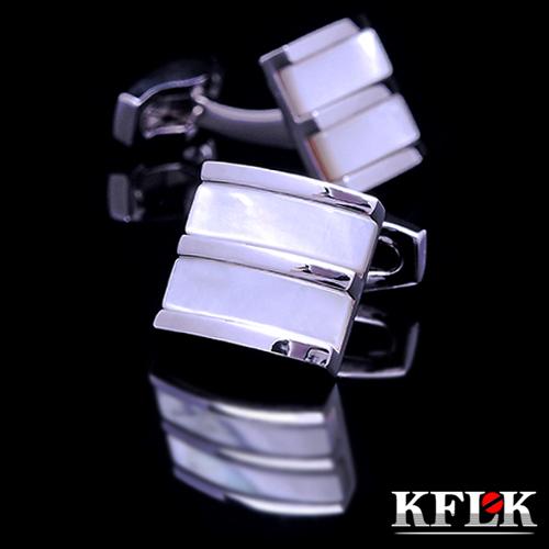 KFLK Luxury 2014 HOT shirt cufflinks for mens Brand cuff buttons cuff link Shell gemelos High Quality abotoaduras Jewelry