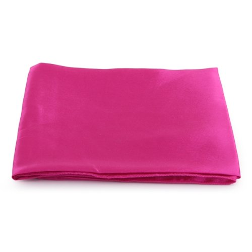 5 sets of 5 sets of Hot Pink Cloth Napkins Satin for Banquet Dinner Party 51x51cm