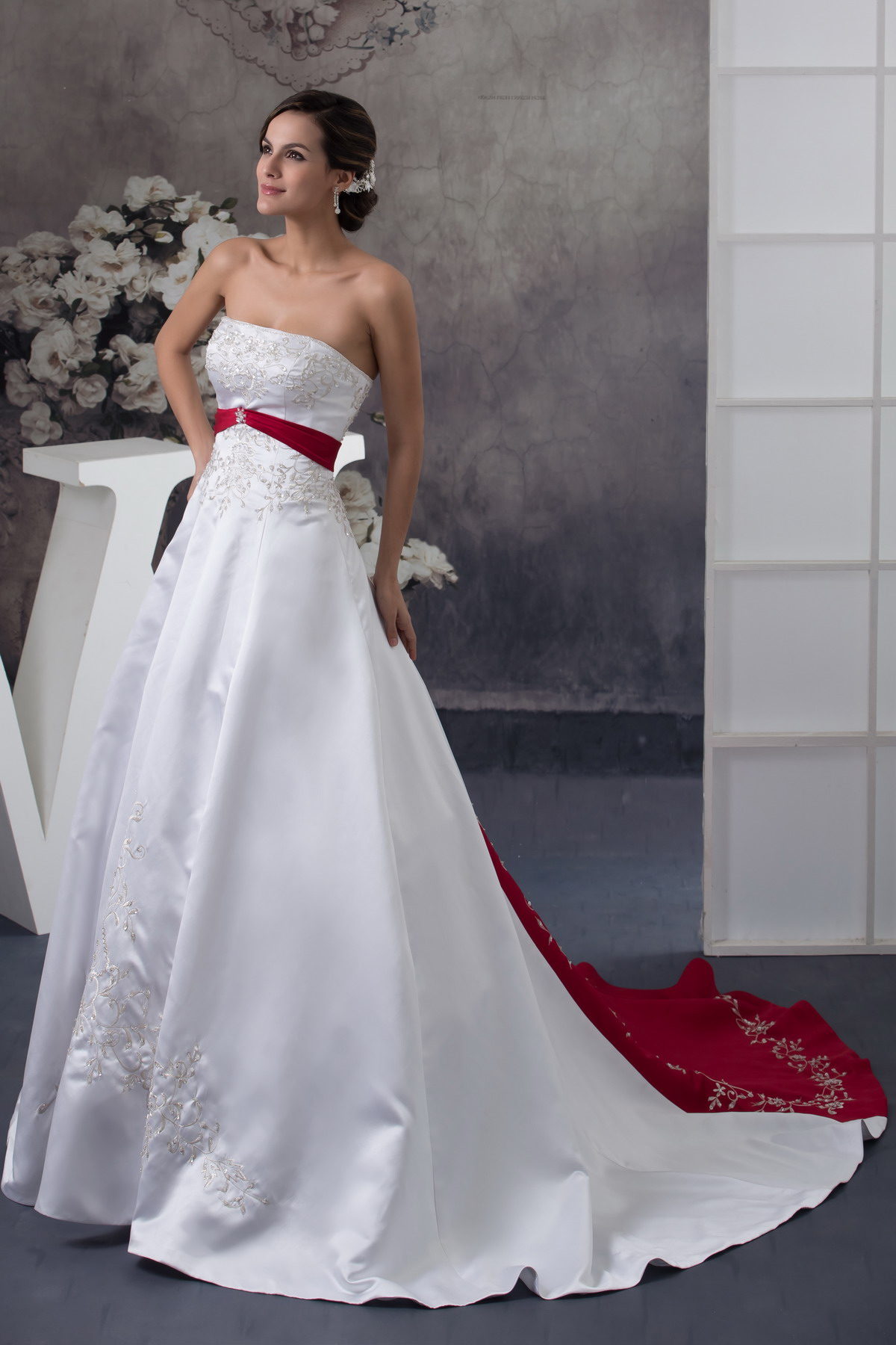 Wedding dresses ball gown with off the shoulder floor for Big white wedding dresses