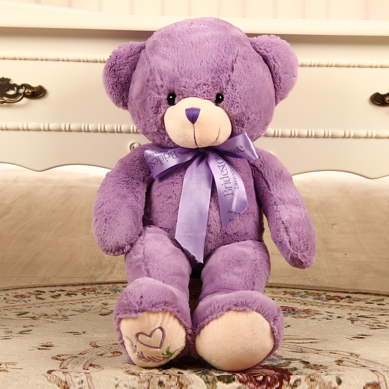 40CM giant teddy bear plush stuffed toy baby birthday gifts kids toys plush pillow doll purple big teddy bear cotton doll(China (Mainland))