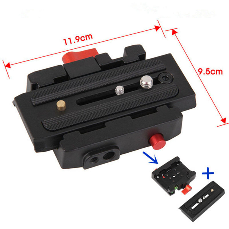P200 Quick Release Assembly Aluminium Alloy Clamp Adapter Quick Release Plate for Manfrotto 501 500AH 701HDV