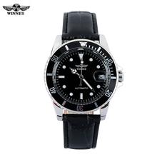 New Luxury Brand Winner Men's Automatic Self-winding Mechanical Watches Leather Strap Band Males Casual Wristwatch Clocks reloj
