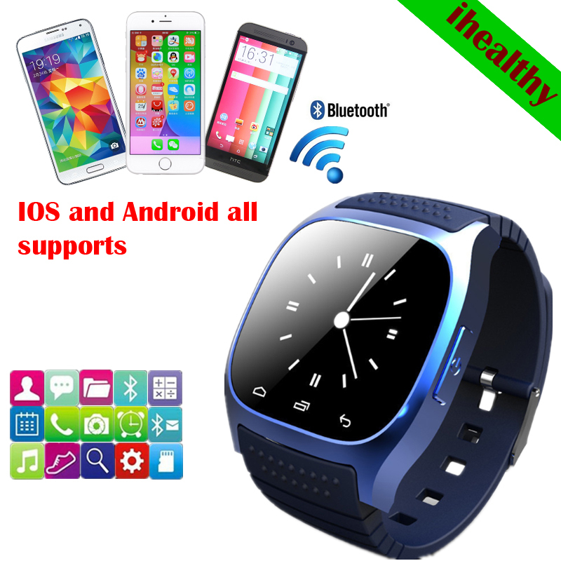 New 2014 Smart Bluetooth Watch M26 with LED display / Dial / SMS Reminding / Music Player / Pedometer for Mobile Phone for gifts(China (Mainland))
