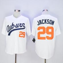 Men's cheap Throwback VINTAGE Baseball jersey White #29 Bo Jackson Jerseys(China (Mainland))