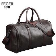 Genuine leather travel bag men duffel bag large capacity gym bag with shoulder strap shoulder bag leahter handbag for male