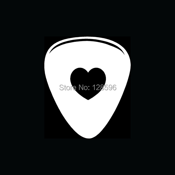 GUITAR PICK HEART Sticker Cute for Car Window Vinyl Decal Gift Band Music Rock Love Play Sing(China (Mainland))