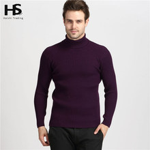 2016 Winter Thick Warm 100% Cashmere Sweater Men Turtleneck Men Brand Mens Sweaters Slim Fit Pullover Men Knitwear Double collar(China (Mainland))