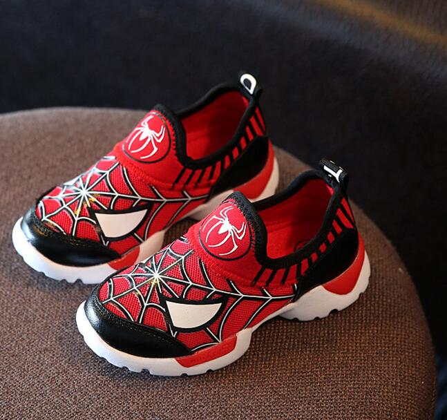Hot Kids sport shoes 2016 Spring spiderman casual sneakers Fashion toddlers brand boys running shoes(China (Mainland))