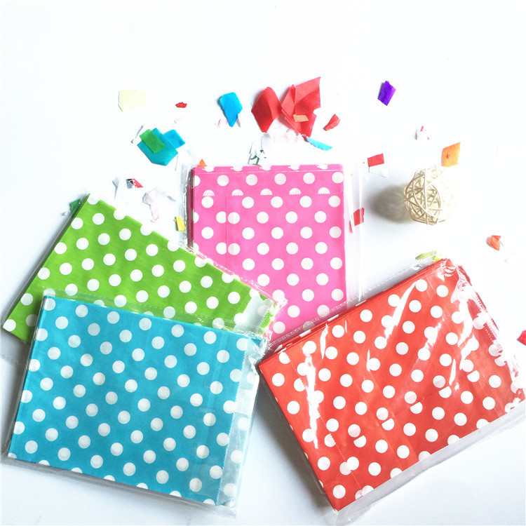 "100 Kraft Paper candy Bag 5 x7"" Polka Dots Stripes Buffet Popcorn Food Safe fries hamburger Fried Chicken Oil paper gift bag(China (Mainland))"