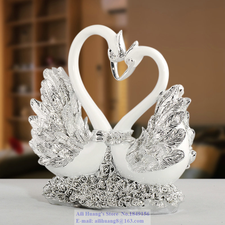 A80 rose heart swan couple swan wedding gift ideas wedding for Wedding ornaments