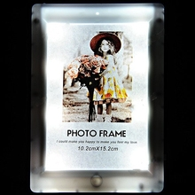 LED Light Photo Frame Rahmen Desktop Photo Display Wedding Photo Frame for Home Office - Paperboard Assorted (China (Mainland))