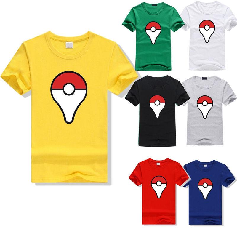 2016 Short Sleeve Fitness Sports Running font b Pokemon b font font b Go b font